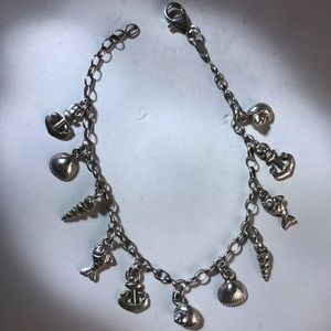 Jewelry - Sterling silver nautical charm bracelet made Italy